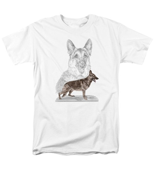 German Shepherd Art Print - Color Tinted Men's T-Shirt  (Regular Fit) by Kelli Swan