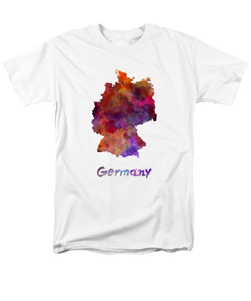 Germany In Watercolor Men's T-Shirt  (Regular Fit) by Pablo Romero