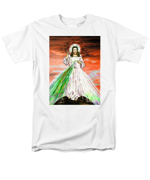 Men's T-Shirt  (Regular Fit) featuring the painting Gesu' by Loredana Messina