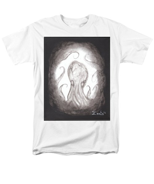 Men's T-Shirt  (Regular Fit) featuring the painting Ghostopus by Christophe Ennis
