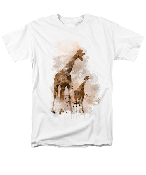 Giraffe And Baby Men's T-Shirt  (Regular Fit) by Marlene Watson