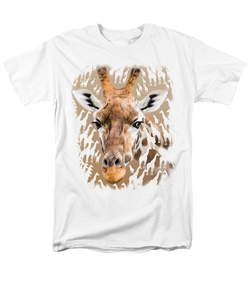 Giraffe Clothing And Wall Art Men's T-Shirt  (Regular Fit) by Linsey Williams