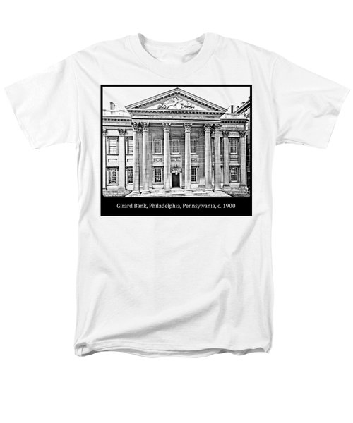 Men's T-Shirt  (Regular Fit) featuring the photograph Girard Bank Building Philadelphia C 1900 Vintage Photograph by A Gurmankin