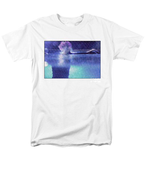 Girl In Pool At Night Men's T-Shirt  (Regular Fit) by Michael Edwards