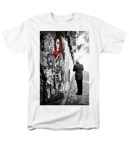 Girl In Red Men's T-Shirt  (Regular Fit) by Anthony Citro