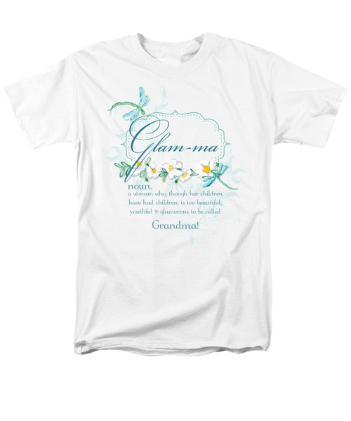 Glam-ma Grandma Grandmother For Glamorous Grannies Men's T-Shirt  (Regular Fit) by Audrey Jeanne Roberts