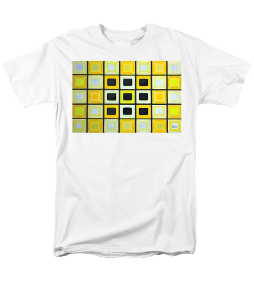 Men's T-Shirt  (Regular Fit) featuring the painting Glass Wall by Lorna Maza