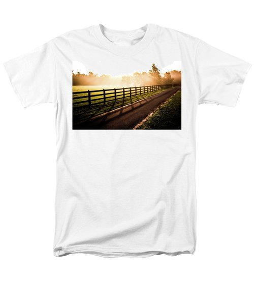 Men's T-Shirt  (Regular Fit) featuring the photograph Glowing Fog At Sunrise by Shelby Young