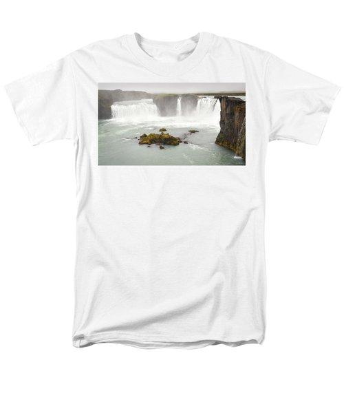 Godafoss Men's T-Shirt  (Regular Fit) by Joe Bonita