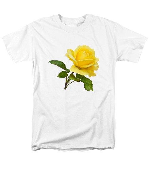 Golden Yellow Rose Men's T-Shirt  (Regular Fit) by Jane McIlroy