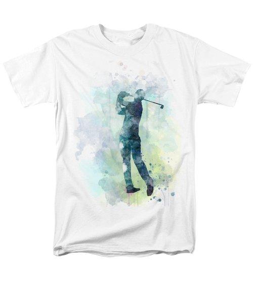 Golf Player  Men's T-Shirt  (Regular Fit) by Marlene Watson