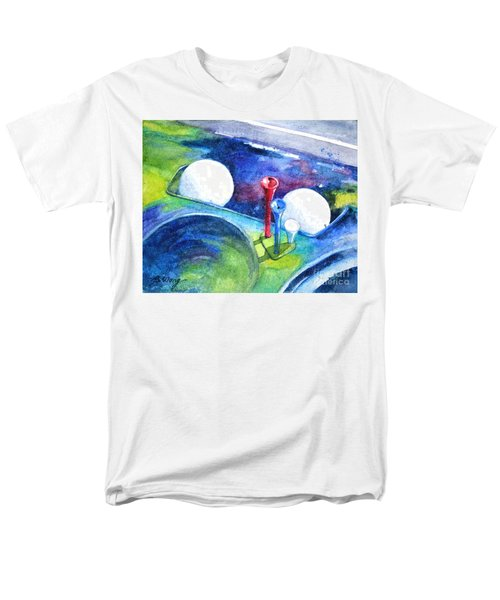 Golf Series - Back Safely Men's T-Shirt  (Regular Fit) by Betty M M Wong