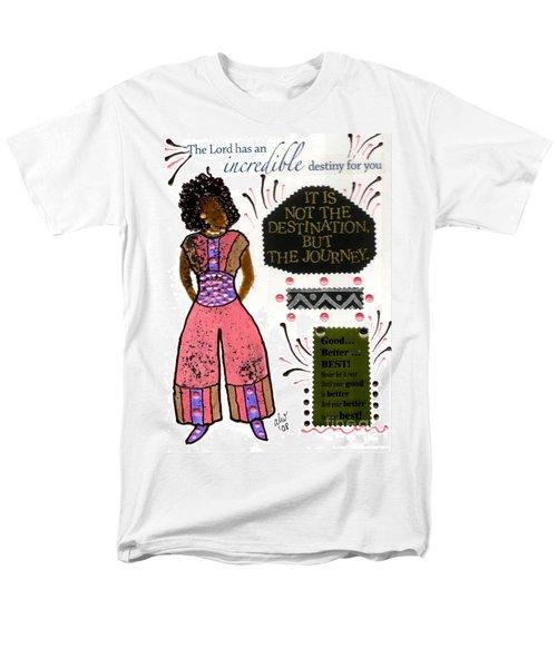 Men's T-Shirt  (Regular Fit) featuring the mixed media Good Better Best by Angela L Walker