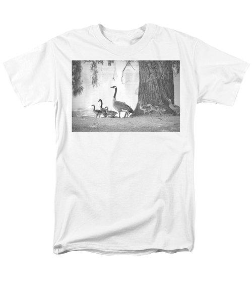 Men's T-Shirt  (Regular Fit) featuring the photograph Goose Family  by Clarice Lakota