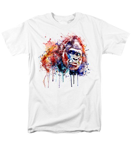 Men's T-Shirt  (Regular Fit) featuring the mixed media Gorilla by Marian Voicu