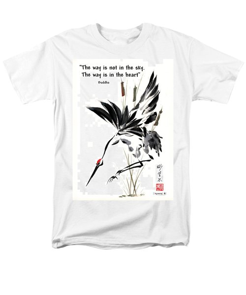 Men's T-Shirt  (Regular Fit) featuring the painting Grace Of Descent With Buddha Quote I by Bill Searle
