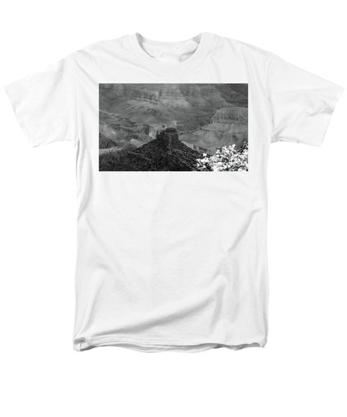 Men's T-Shirt  (Regular Fit) featuring the photograph Grand Canyon 4 In Black And White by Debby Pueschel