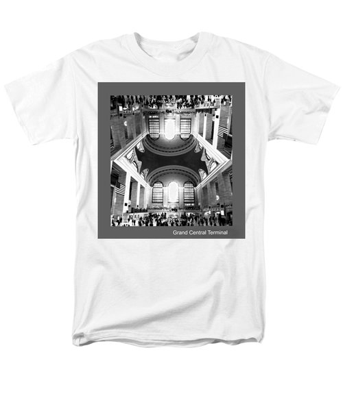 Men's T-Shirt  (Regular Fit) featuring the photograph Grand Central Terminal Mirrored by Diana Angstadt