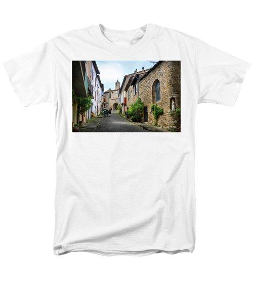 Grand Rue De L'horlogue In Cordes Sur Ciel Men's T-Shirt  (Regular Fit) by RicardMN Photography