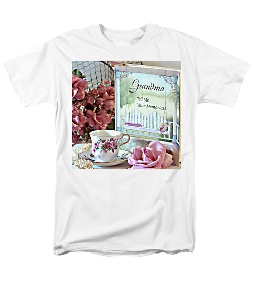 Men's T-Shirt  (Regular Fit) featuring the photograph Grandma Tell Me Your Memories... by Sherry Hallemeier
