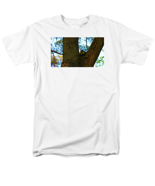 Men's T-Shirt  (Regular Fit) featuring the photograph Grateful Tree Squirrel by Michael Rucker