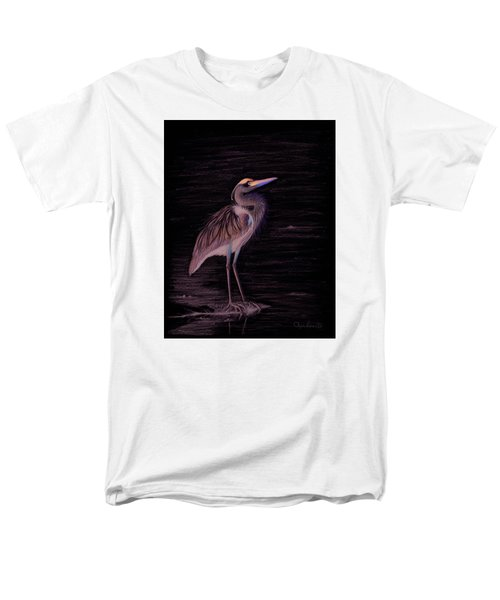Great Blue Heron Men's T-Shirt  (Regular Fit) by Phyllis Howard