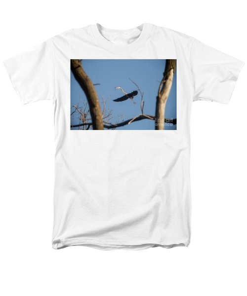 Men's T-Shirt  (Regular Fit) featuring the photograph Great Blues Nesting by David Bearden