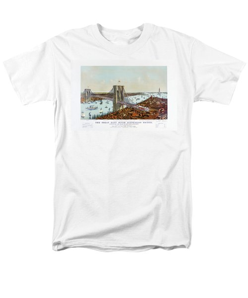 Great East River Suspension Bridge 1892 Men's T-Shirt  (Regular Fit) by Carsten Reisinger