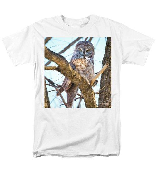 Great Gray Owl Men's T-Shirt  (Regular Fit) by Ricky L Jones