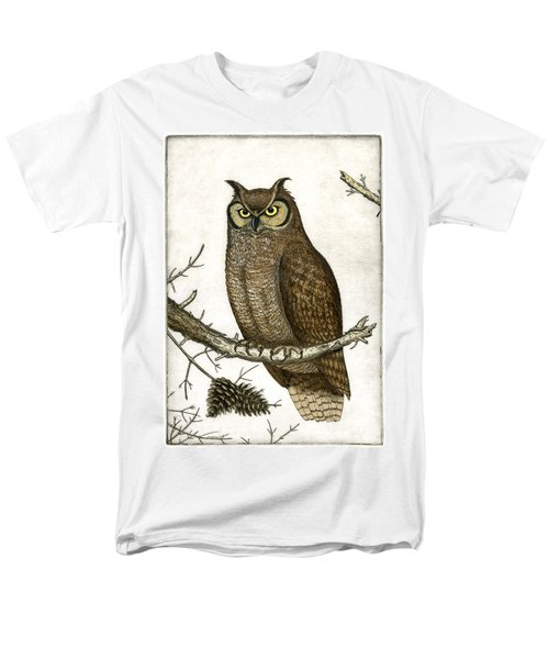 Great Horned Owl Men's T-Shirt  (Regular Fit) by Charles Harden
