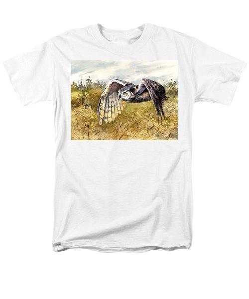 Great Horned Owl In Flight Men's T-Shirt  (Regular Fit) by Sam Sidders