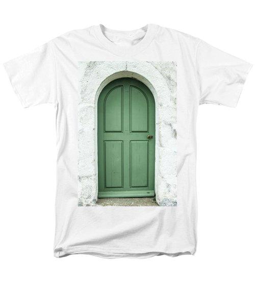 Green Church Door Iv Men's T-Shirt  (Regular Fit) by Helen Northcott