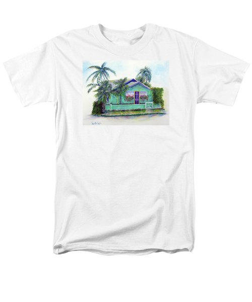 Green Cottage Men's T-Shirt  (Regular Fit) by Loretta Luglio