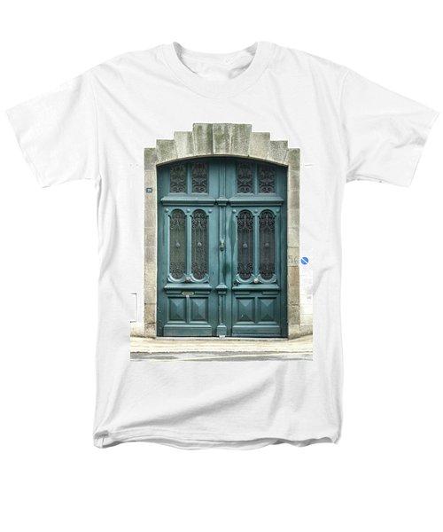 Green Door Men's T-Shirt  (Regular Fit) by Helen Northcott