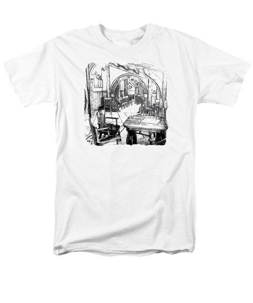 Men's T-Shirt  (Regular Fit) featuring the drawing Green Dragon Inn Nook by Kathy Kelly