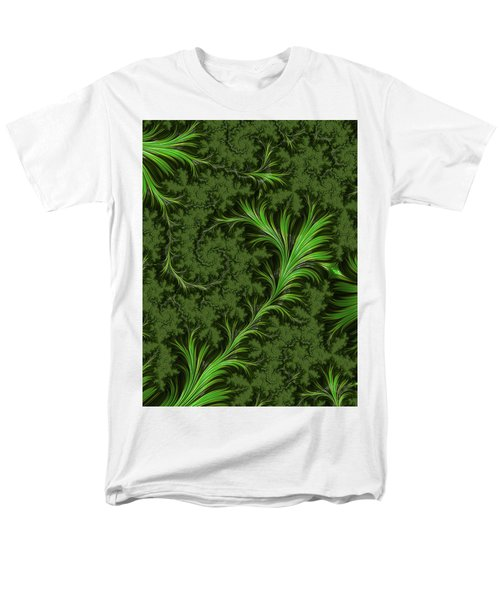Green Fronds Men's T-Shirt  (Regular Fit) by Rajiv Chopra