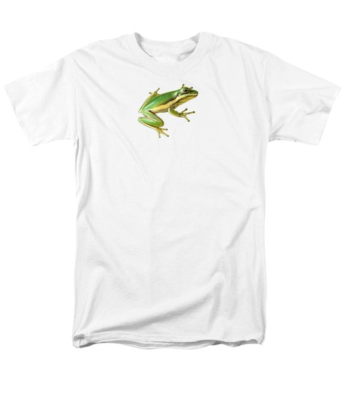 Green Tree Frog Men's T-Shirt  (Regular Fit) by Sarah Batalka