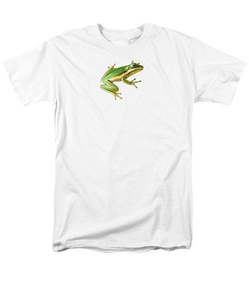 Green Tree Frog Men's T-Shirt  (Regular Fit) by Sarah Batalka