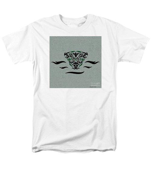 Green Tribal Gator Men's T-Shirt  (Regular Fit) by Megan Dirsa-DuBois