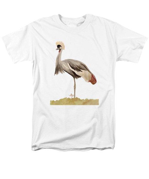 Grey Crowned Crane Men's T-Shirt  (Regular Fit) by Angeles M Pomata