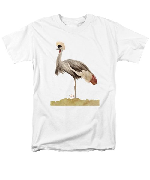 Grey Crowned Crane Men's T-Shirt  (Regular Fit)