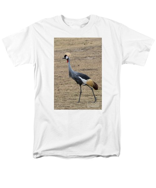 Men's T-Shirt  (Regular Fit) featuring the photograph Grey Crowned Crane In The Wild by Pravine Chester