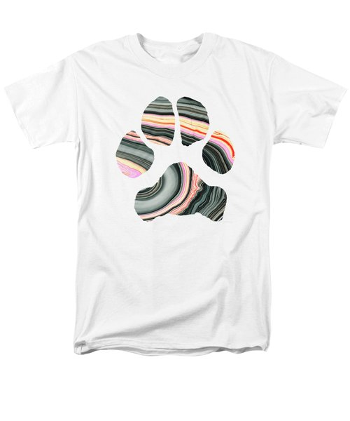 Groovy Dog Paw - Sharon Cummings  Men's T-Shirt  (Regular Fit)