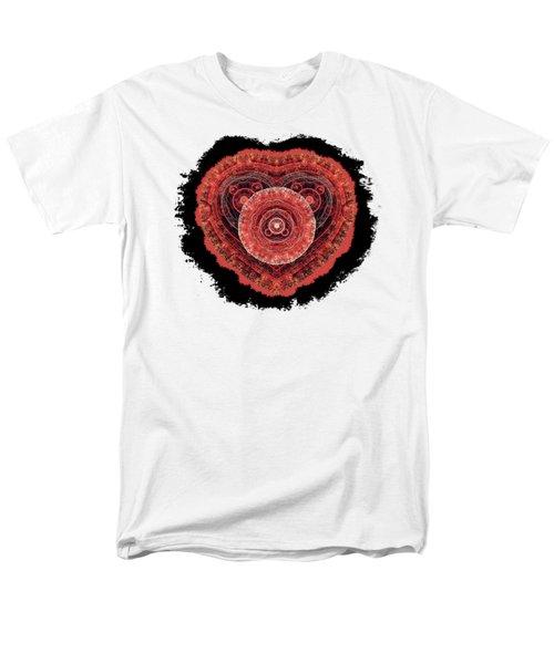 Grunge Fractal Heart Men's T-Shirt  (Regular Fit) by Martin Capek