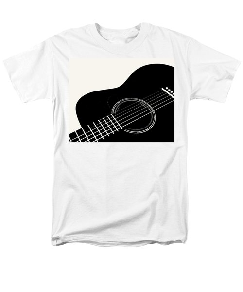 Men's T-Shirt  (Regular Fit) featuring the digital art Guitar, Black And White,  by Jana Russon