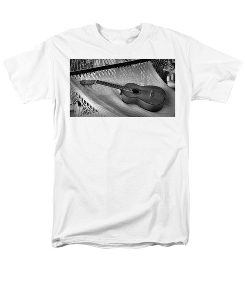 Men's T-Shirt  (Regular Fit) featuring the photograph Guitar Monochrome by Jim Walls PhotoArtist