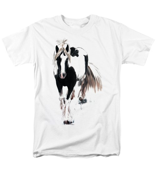 Men's T-Shirt  (Regular Fit) featuring the painting Gypsy Vanner by Isabella F Abbie Shores FRSA