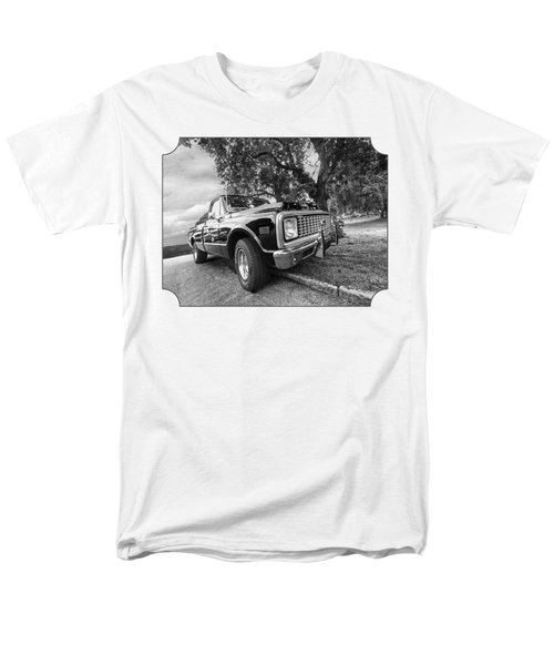 Halcyon Days - 1971 Chevy Pickup Bw Men's T-Shirt  (Regular Fit) by Gill Billington