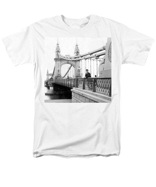 Hammersmith Bridge In London - England - C 1896 Men's T-Shirt  (Regular Fit) by International  Images