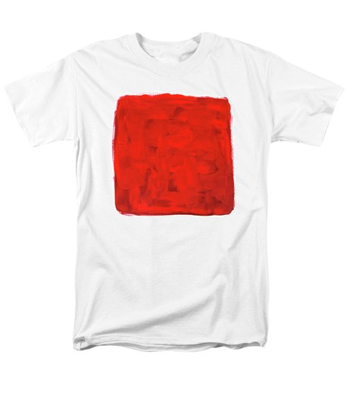 Handmade Vibrant Abstract Oil Painting Men's T-Shirt  (Regular Fit) by GoodMood Art